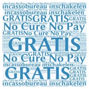 no cure no pay incassobureau inschakelen